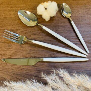 Set couvert de table SARA – White Silver – 24 pcs